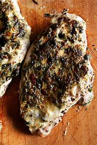 Broiled Tarragon Chicken Breasts, Using a Whole Chicken