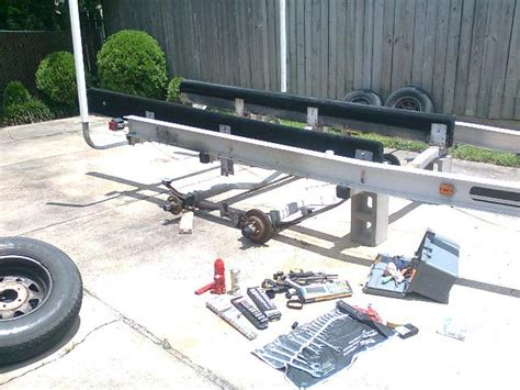 Boat Trailer Springs by Leaf Springs To Torsion Axle Changeover The Hull