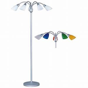 park madison floor lamp w fully adjustable 68quot tall 5 With five light floor lamp in silver