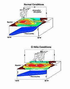 U00ad4  Illustration Of Normal Vs  El Nino Conditions With The
