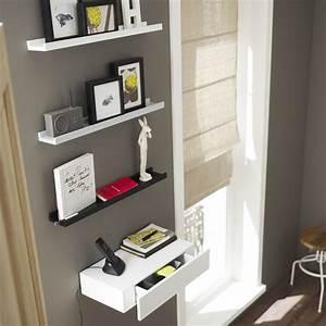 etagere pour cadre photo gris l 60 x p 9 cm ep30 mm With salle de bain design avec grillage décoratif extérieur