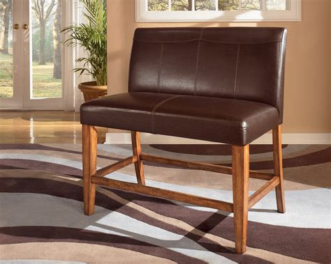 Bench Stool by Leather Dual Seat Counter Bench For The Home Wood