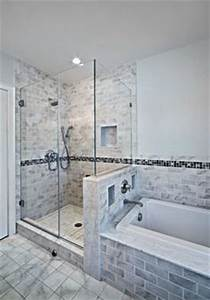 Half Wall Shower On Pinterest Small Bathroom Layout