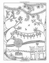 Coloring Pages Heart Garden Inkspirations Flower Tree Adult sketch template