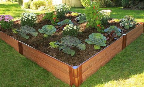 raised garden bed kit raised bed systems composite cedar white beds frame