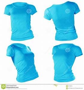 Women 39 S Blank Blue T Shirt Template Royalty Free Stock