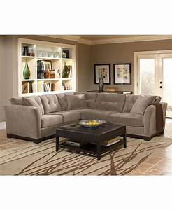 Elliot fabric sectional sofa collection furniture macy for Macys rylee sectional sofa