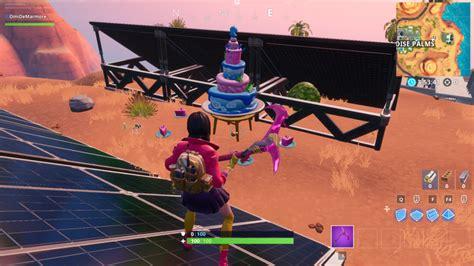 fortnite  birthday  birthday cake locations dot