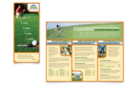 golf instructor  brochure template word publisher