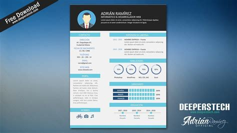 Curriculum Template Free by Curriculum Vitae Moderno Cv Template Editable En Word
