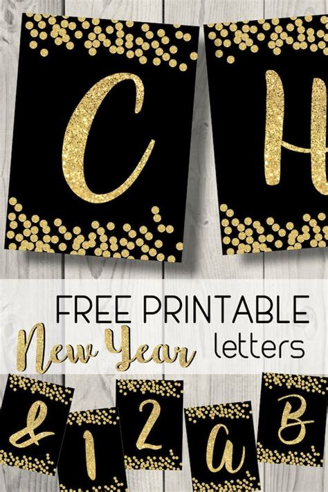 printable happy  year banner letters happy