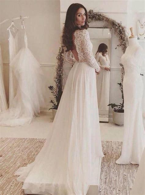 long sleeves wedding dressbeach wedding dresslace