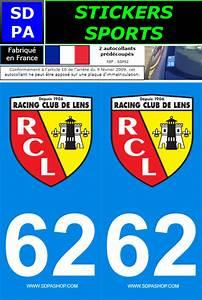 Plaque Immatriculation France : 2 stickers sports 62 rc lens sdpa ssp62 plaques d 39 immatriculation et stickers autocollant ~ Medecine-chirurgie-esthetiques.com Avis de Voitures