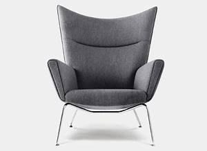 Fauteuil Haut Dossier : fauteuil ch445 wing chair fauteuils et chaises longues design terre design ~ Teatrodelosmanantiales.com Idées de Décoration