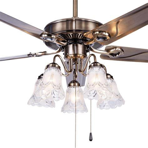 led european leaf fan lamp  fan ceiling fan light