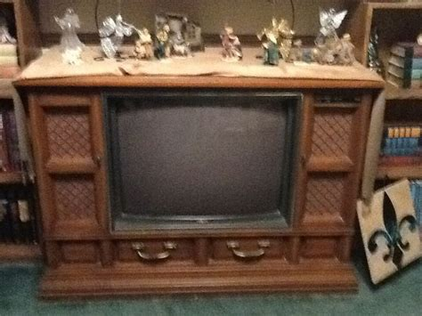 turn tv into fireplace repurposing an console tv that doesn t work hometalk