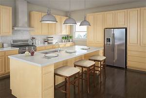 Touraine SLAB Birch Kitchen Cabinets Detroit, - MI Cabinets
