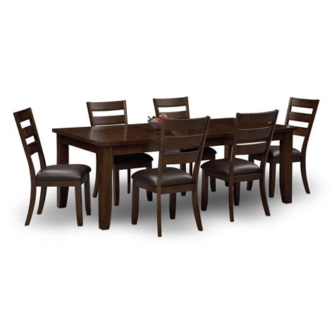 value city furniture desks abaco table and 6 chairs brown value city furniture