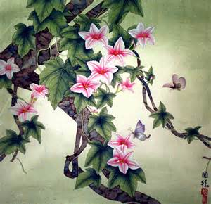 Japanese Flower Art Paintings