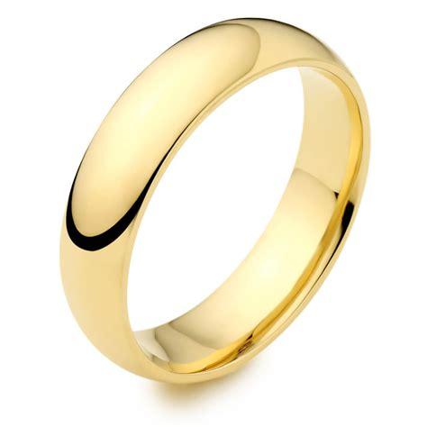 men s 18ct yellow gold 8mm d shape wedding ring