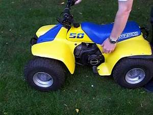 Quad Suzuki 50 : 50cc suzuki quad bike start up youtube ~ Medecine-chirurgie-esthetiques.com Avis de Voitures