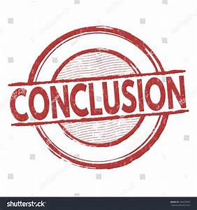 Conclusion Grunge Rubber Stamp On White Stock Vector ...