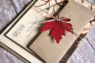 fall themed wedding invitations fall wedding invitations autumn wedding by alittlemorerosie