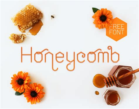 honeycomb font befontscom