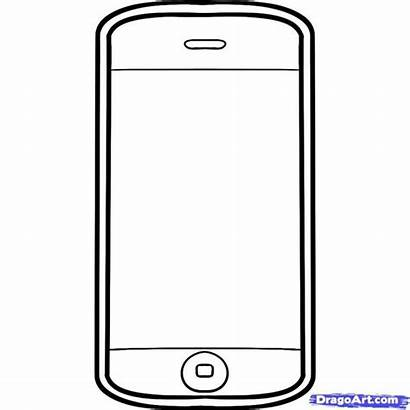 Coloring Pages Printable Clipart Cellphone Cell Phone