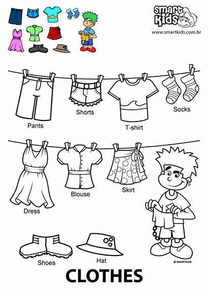Clothes Colorir Desenho Coloring Imprimir Desenhos Smartkids