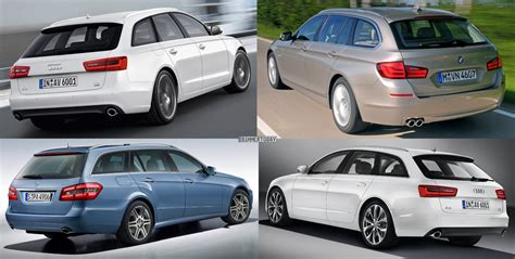 photo comparison bmw  series touring  mercedes