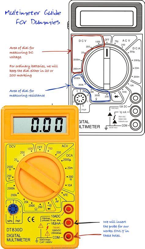 multimeter guide  dummies