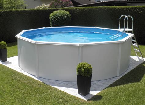 pool rund 4 m steirerbecken pool 3 6x132m supreme de luxe rund 132 wei 223