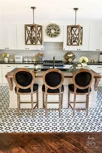 Beautiful, Black, U0026, White, Fall, Farmhouse, Kitchen