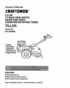 Craftsman 917 293300 User Manual