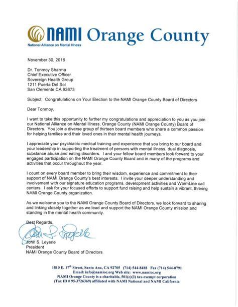 nami board  directors letter