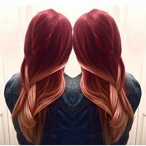 Ombré Hair Rouge : red to blonde balayage ombr hair in thousand colors ~ Melissatoandfro.com Idées de Décoration