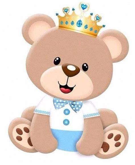 40 ursinho azul claro coroa principe tags topper r 14 99 em mercado livre