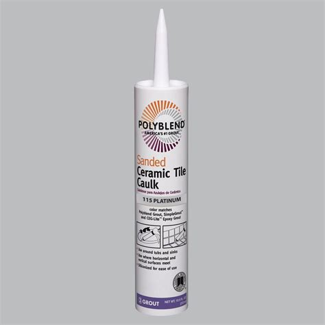 custom building products polyblend 115 platinum 10 5 oz sanded ceramic tile caulk pc11510s