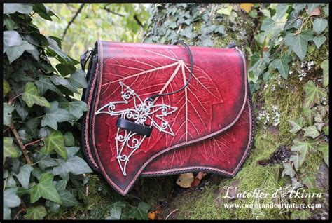 Zalinra Bag By Akinra-workshop Red Forest Fall Leaf Purse