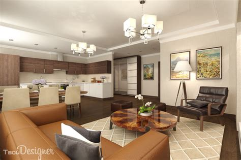 1-bedroom Apartment, Combined Living, Dining And Kitchen