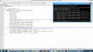 Como Hacer Un Programa De Ecuacion Cuadratica En C  Y