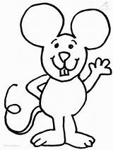 Coloring Mouse Colouring sketch template