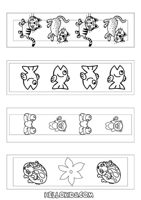 cute animal bookmarks coloring page bookmarks