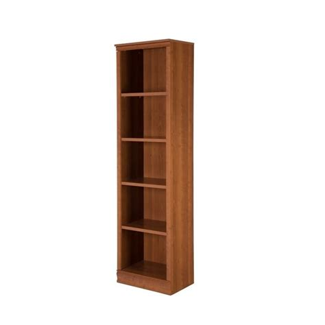5 shelf narrow bookcase south shore morgan 5 shelf narrow bookcase in morgan