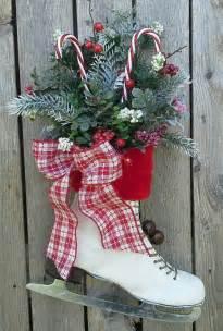 christmas decor decorated ice skate christmas ice skate wreath wall decor country door
