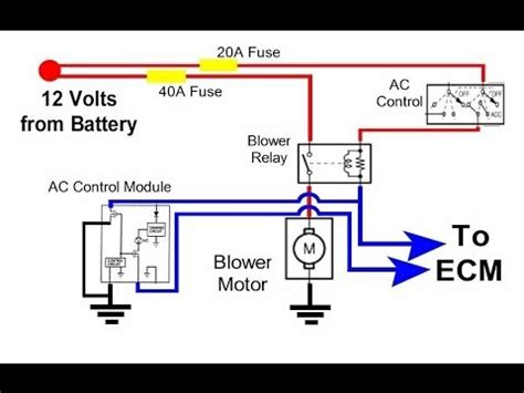 auto hvac condenser fan circuit youtube