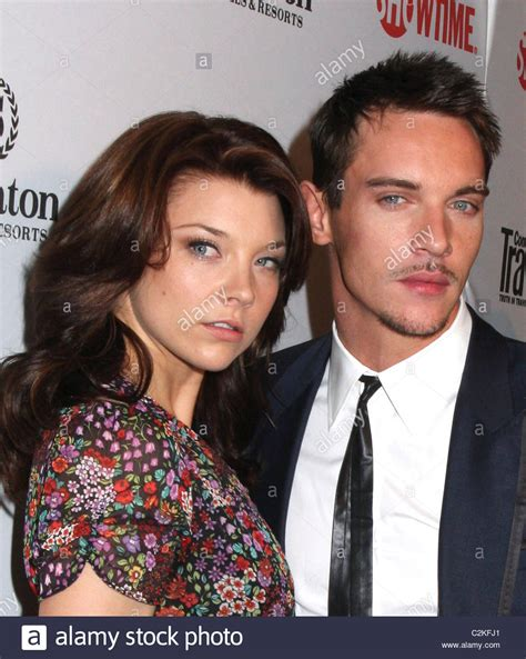 Natalie Dormer And Jonathan Rhys Meyers by Jonathan Rhys Meyers Natalie Dormer World Premiere Of