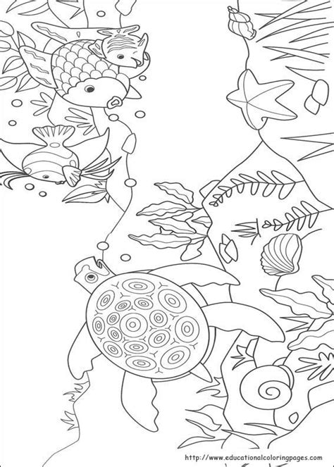 rainbow fish coloring pages   kids