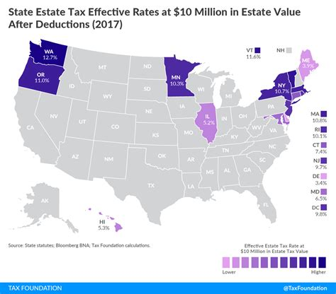 tax estate inheritance state rates highest taxes minnesota rate map economic country burden connecticut implications among shows report interstate competition